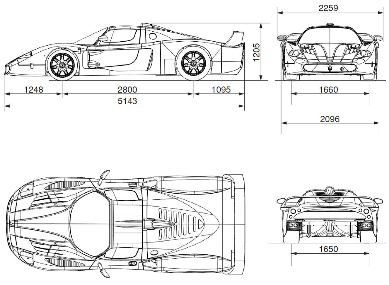 Tesla Car Blueprint